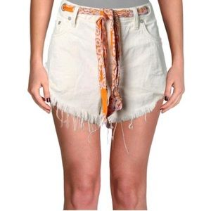 Free People Relaxed-Fit Cutoff Shorts